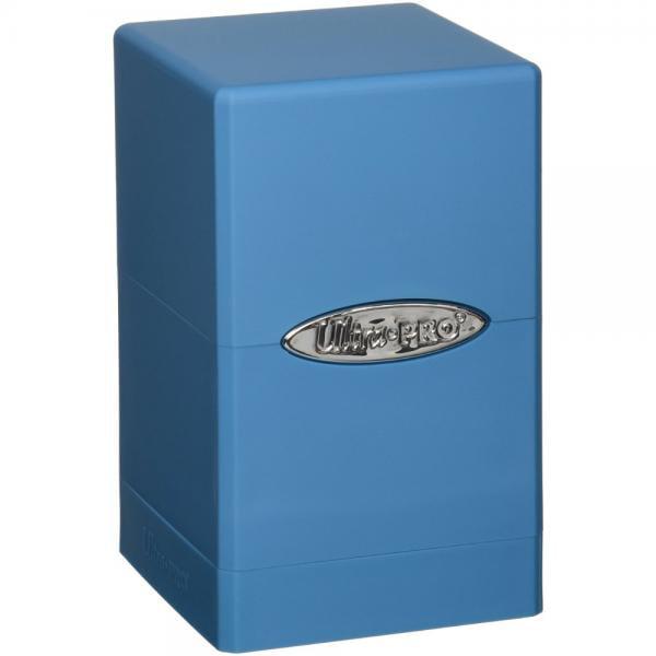 Light Blue Satin Tower Deck Boxes