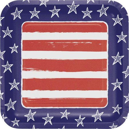 Creative Converting Festive Flag 4th Of July Paper Plates, 8 ct](Fourth Of July Plates)