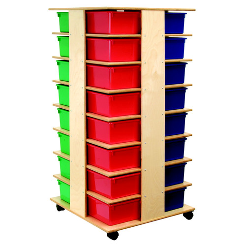 Bird in Hand Double Sided 12 Compartment Cubby with Casters
