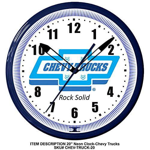 Chevy Trucks Rock Solid Chevrolet Truck Emblem Neon Wall