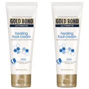 (2 pack) Gold Bond Ultimate Healing Foot Cream, 4 oz