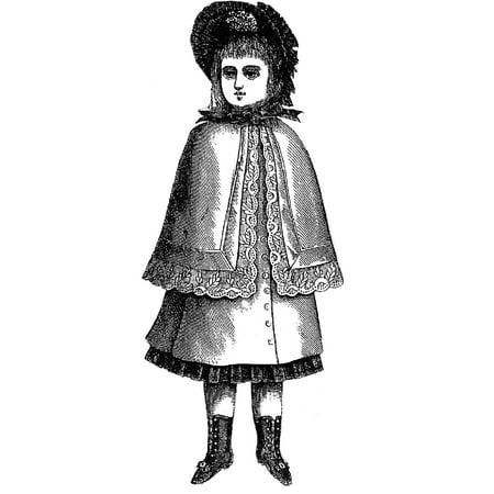 Sewing Pattern: 1883 Doll's Cloak - Gandalf Cloak Pattern