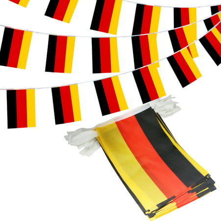 ANLEY Federal Republic of Germany String Pennant Banners, Patriotic Events 3rd of October German Unity Day Decoration Sports Bars - 33 Feet 38 -