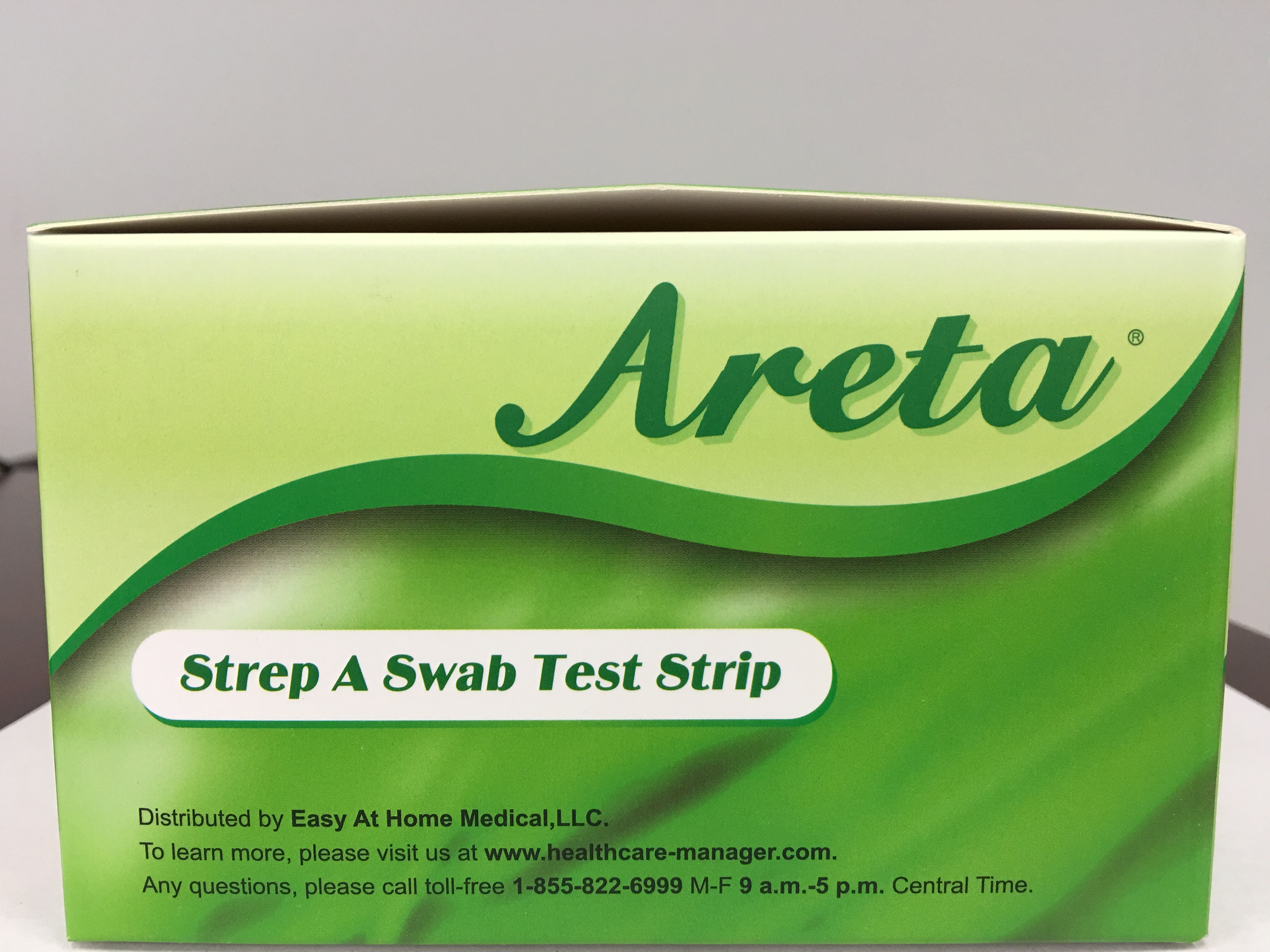 Easy Home Areta Strep A Swab Test Kit Packaged In Individual Pouches