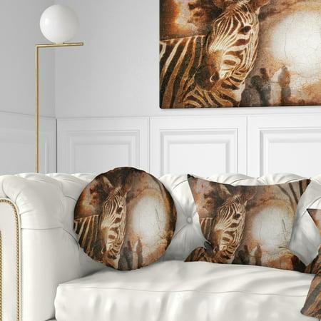 Enjoyable Vintage Style African Zebra African Throw Pillow Uwap Interior Chair Design Uwaporg