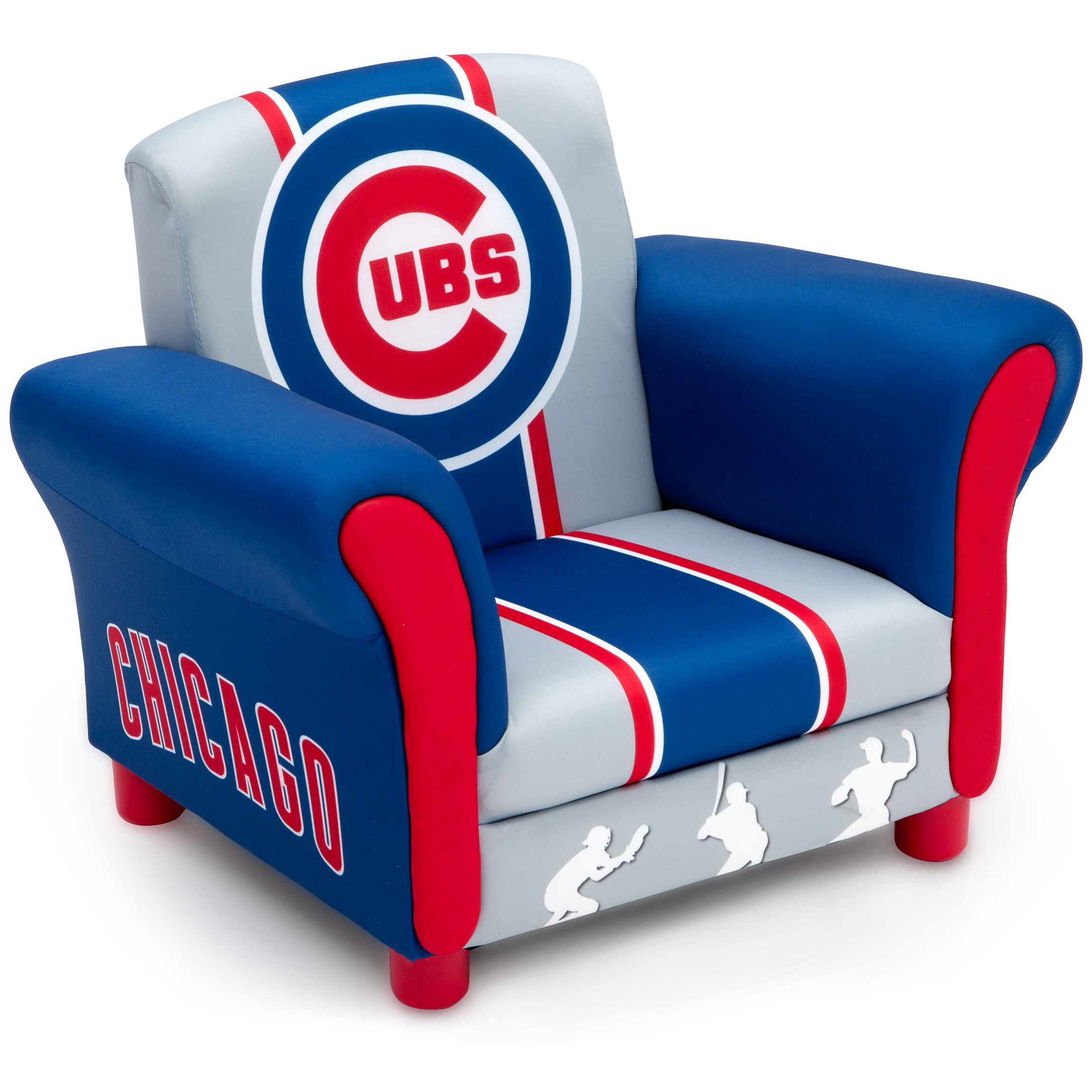 Chicago Cubs Kids Upholstered Chair Walmart Com