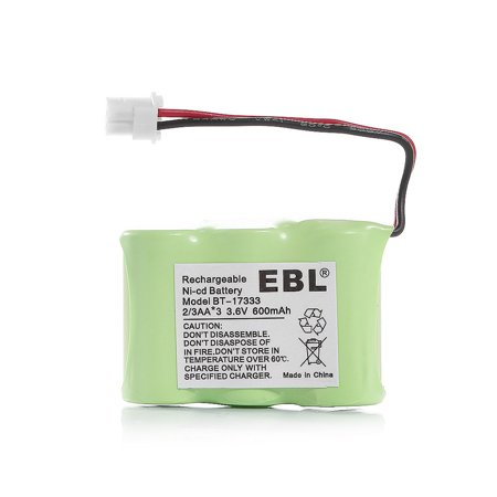 EBL 2/3AA Battery 600mAh 3.6V Replacement Battery for VTech BT-17333, BT-27333 Cordless Telephone Ni-CD Batteries ()