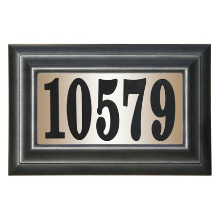 Pinecone Address Plaque - QualArc Edgewood Classic DIY Lighted Address Plaque