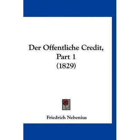 Der Offentliche Credit  Part 1  1829