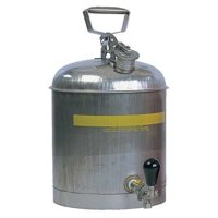 EAGLE 1327 5 gal. Silver Stainless Steel Type I Faucet Safety Can for Flammables