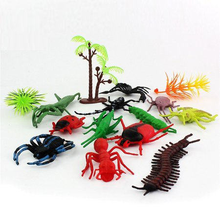 Reptile Toys (Plastic Insect Reptile Model Figures Kids Party Bag Filler Favour Toys)