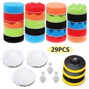 29Pcs 3 Inch Car Polisher Gross Polish Pad Buffer Waxing Buffing Polishing Sponge Pads Kit