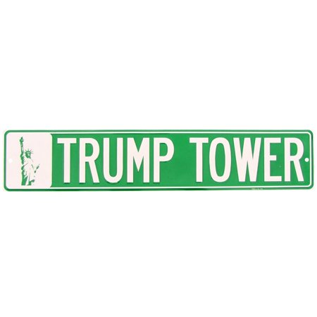 NY Trump Tower Metal NYC Street Sign President Donald J POTUS Bar Pub Wall Decor - Best Bars In Nyc For Halloween
