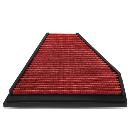 for 06-13 bmw 325i / 328i reusable & washable replacement high flow drop-in air filter (red) 05 06 07 08 09 10 11 (Bmw Air Flow Suit)