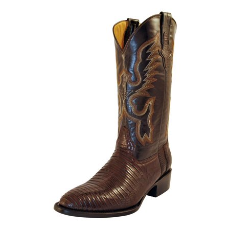 - Ferrini Western Boots Mens Teju Lizard Exotic Chocolate 11111-09