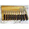 Mainstays 12 Piece Cutlery Set with Soft Grip Handles and Wood Storage Block