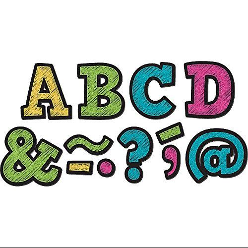 "Teacher Created Resources 2"" Bold Block Magnet Letters - Learning Theme/subject - 87 Letter - Magnetic - Durable, Damage Resistant - 0.10"" Height X 2"" Width X 2"" Depth - Multicolor - 87 / (tcr-77190)"