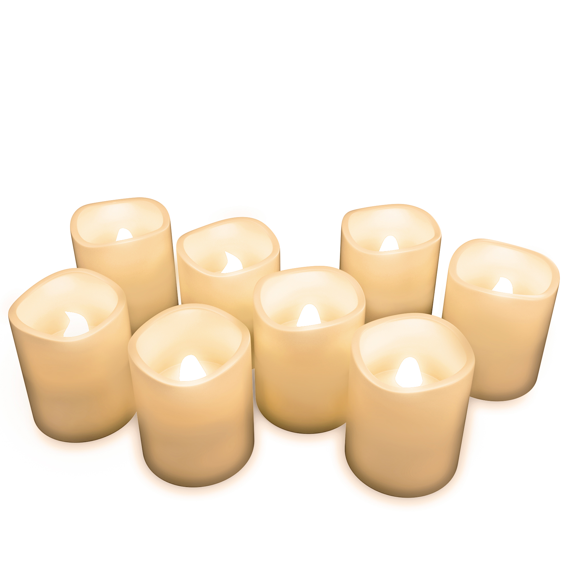 Flameless Candles, Battery Operated LED Bulb, 8-Piece Candle Set by Lavish Home – For Votive Holders – Home, Wedding, Bridal Shower, Christmas Decor