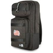 New England Revolution New Era Slim Tech Backpack - Heathered Black