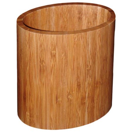 20-2063 Oval Bamboo Utensil Holder
