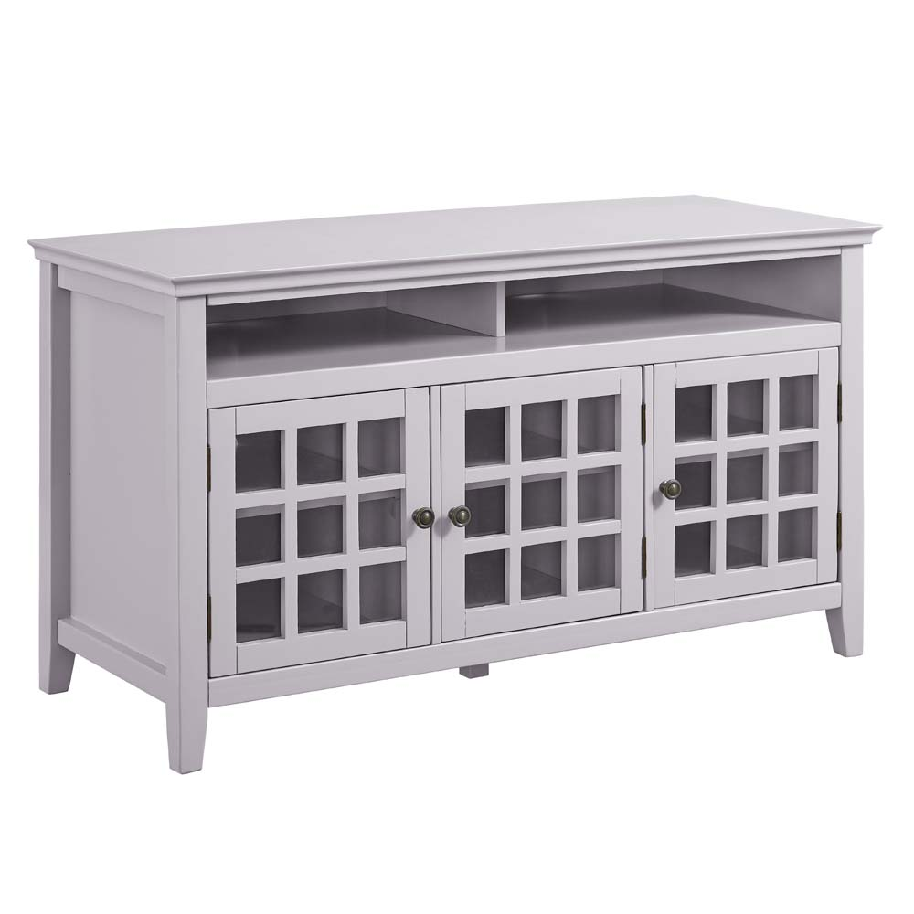 Linon Leslie Media Cabinet, Gray, Ample Interior Storage Space. by Linon Home Dᅢᄅcor Products, Inc.