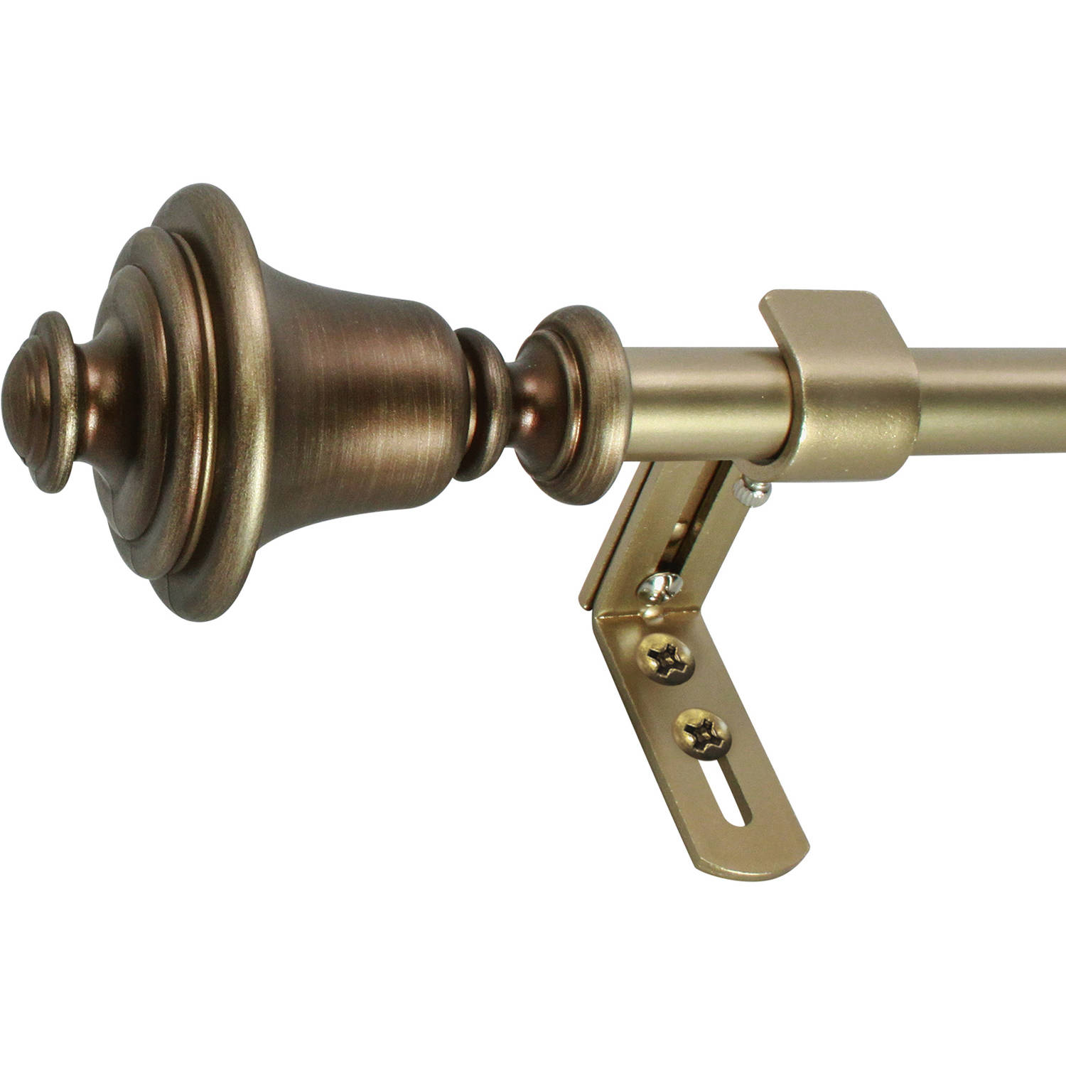 "Montevilla Bell 5/8"" Telescoping Curtain Rod Set"