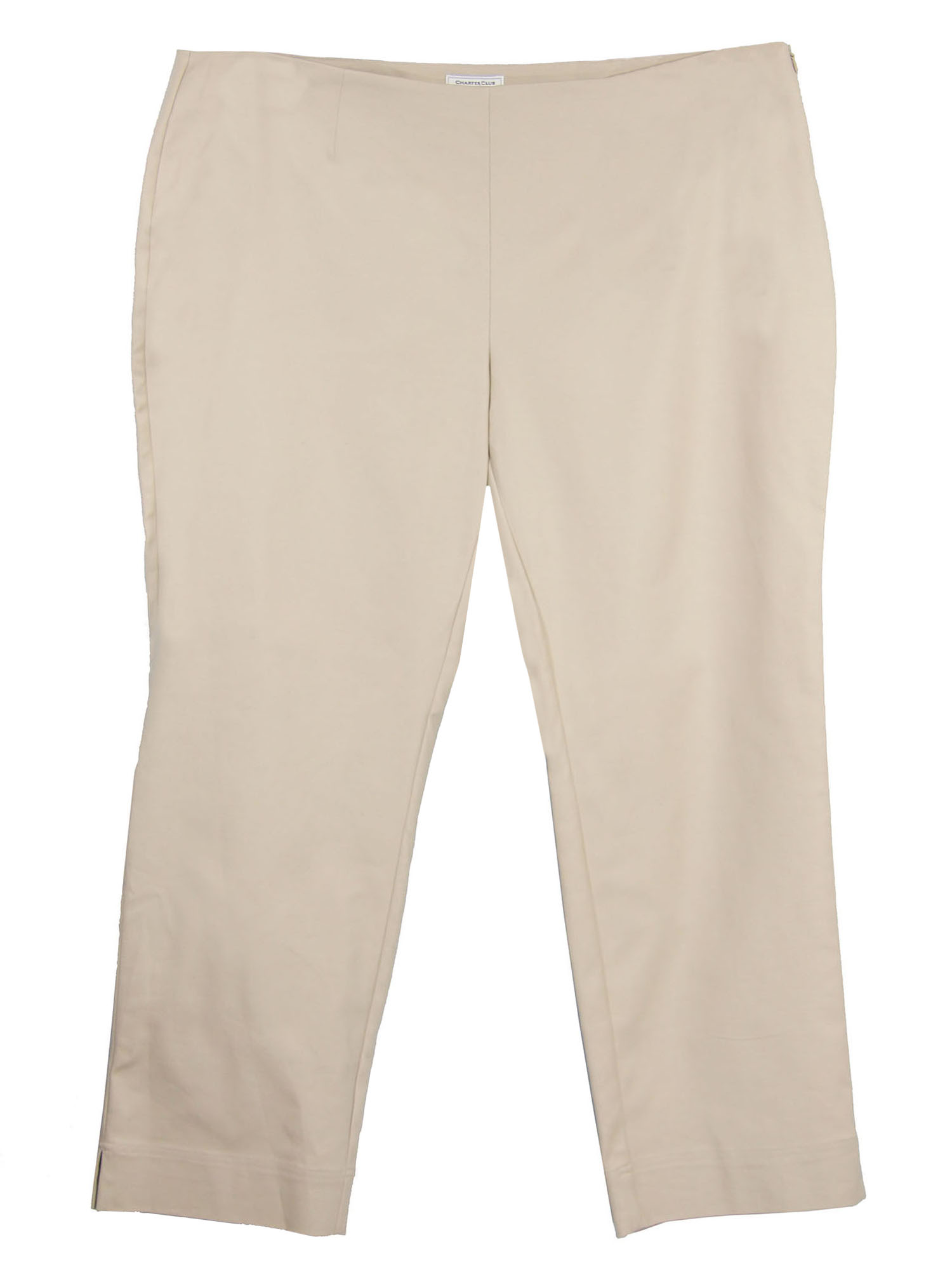 Charter Club Women's Plus Tummy Slimming Ankle Pants 24w White
