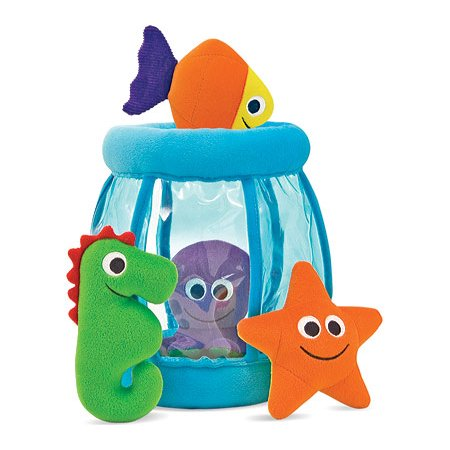 Melissa & Doug Deluxe Fishbowl Fill and Spill Soft Baby Toy (Mini Melissa Bunny)