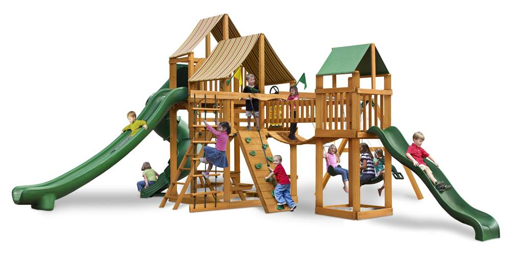 Swing Set With Clatter Bridge Walmart Com