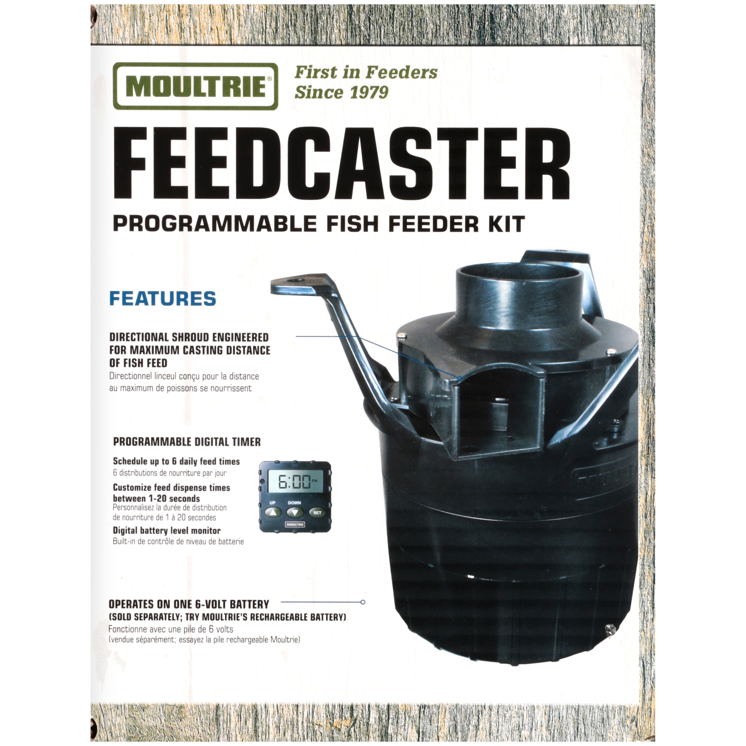 product capacity feeder feeders sweeney directional lb fish