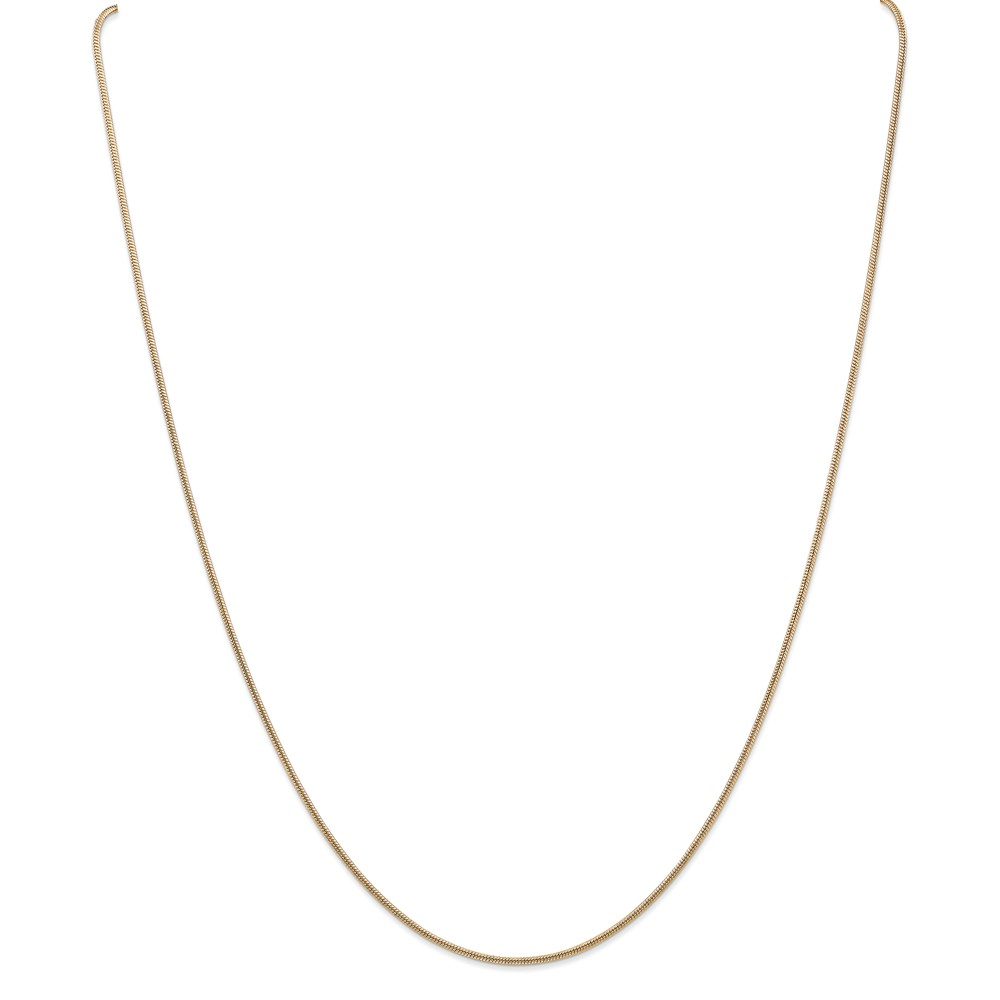 14k Yellow 20in Gold 1.2mm Round Snake Necklace Chain by Jewelrypot