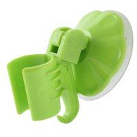 Bathroom Bathing Shower Head Grip Suction Cup Holder Bracket Hook Hanger Orange