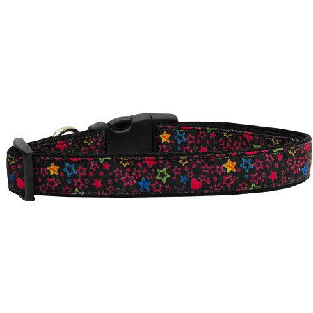 Black Star Nylon Cat Collar