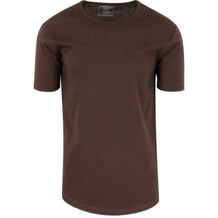 Cacao Shell Mens Hipster Hip Hop Long Drop Tail T Shirts