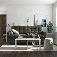 Deals on Dorel Living DHP Emily Upholstered Sofa