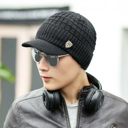 Men Warm Baggy Weave Crochet Winter Wool Knit Ski Beanie Caps Hat
