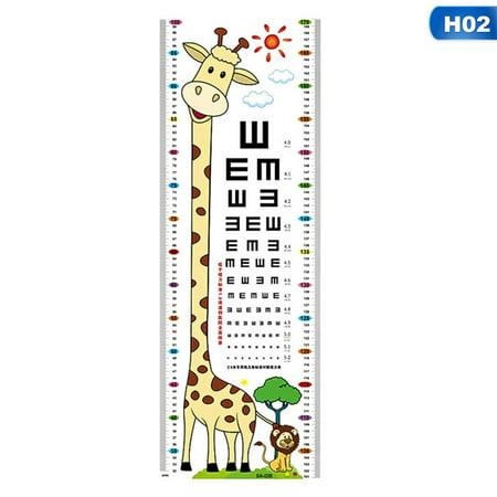AkoaDa Cute Cartoon Animals Baby Child Growth Height Measurement Chart,Eye Chart Wall Sticker Nautical Growth Chart