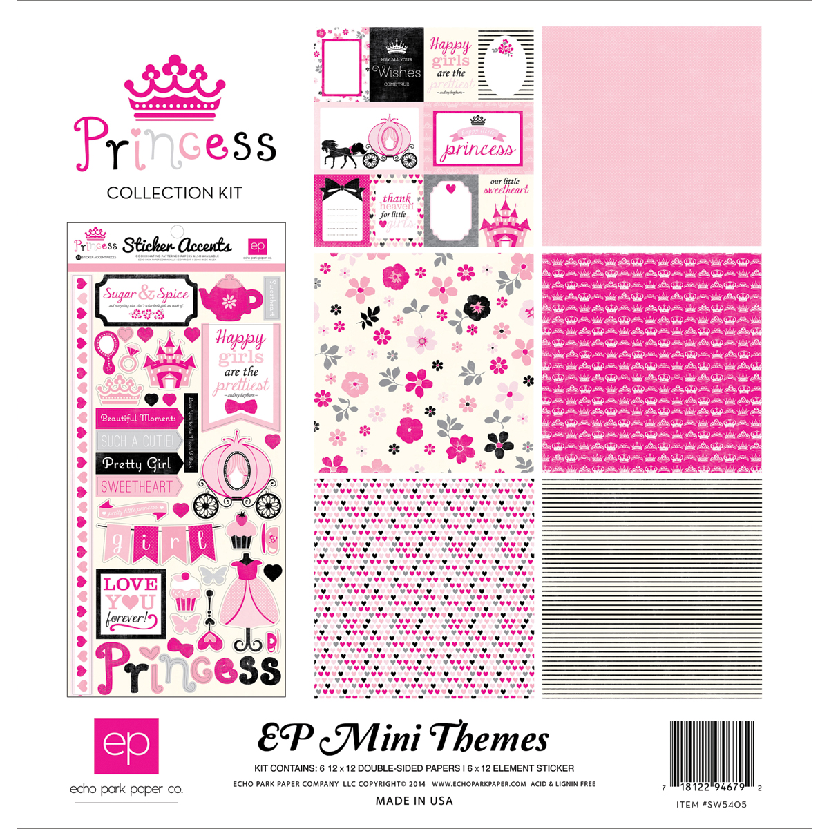 "Echo Park Collection Kit 12""X12""-Princess"