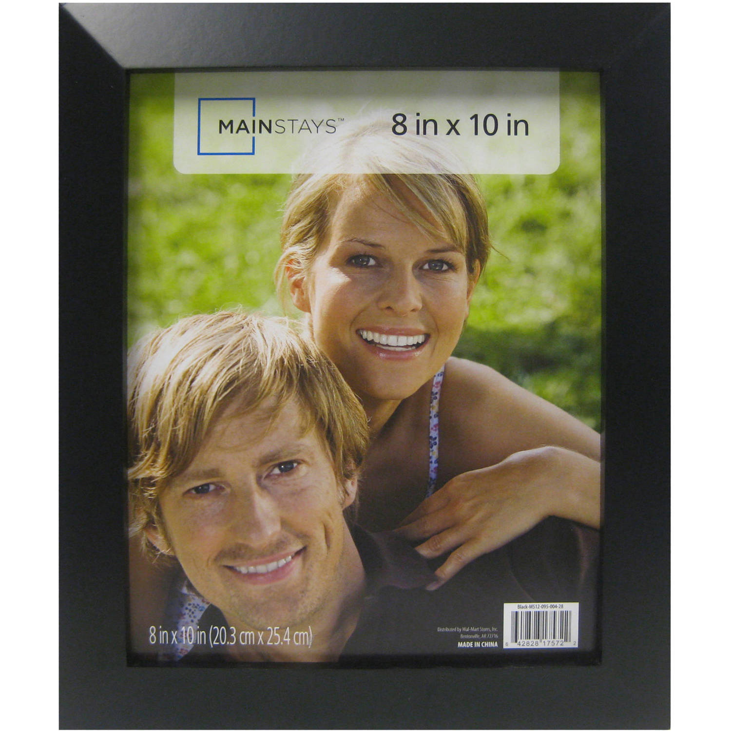 Mainstays 8x10 Wide Wood Frame, Black