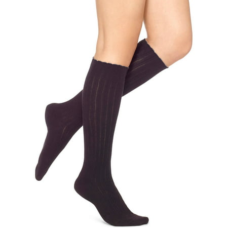 No Nonense Womens Tipped Scallop Knee Sock