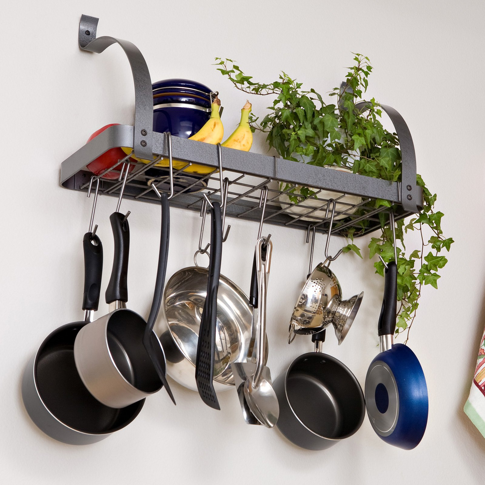 pots hang low wrought large hooks pans of pan decorative rack iron and pin enclume rogar rolling canning lummy pot at hs ceiling genuine p bookshelf hammered racks to steel invigorating plus size