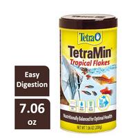 Tetra TetraMin Balanced Diet Tropical Fish Food Flakes, 7.06 oz