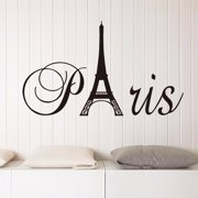 removable wall sticker france paris eiffel tower vinyl decal mural home decor 60x30cm - Eiffel Tower Decor For Bedroom