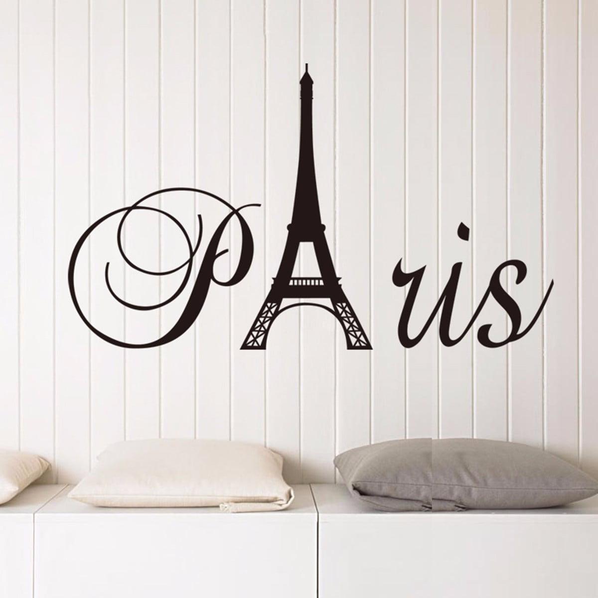 Removable France Paris Eiffel Tower Wall Sticker Pvc Vinyl Decal