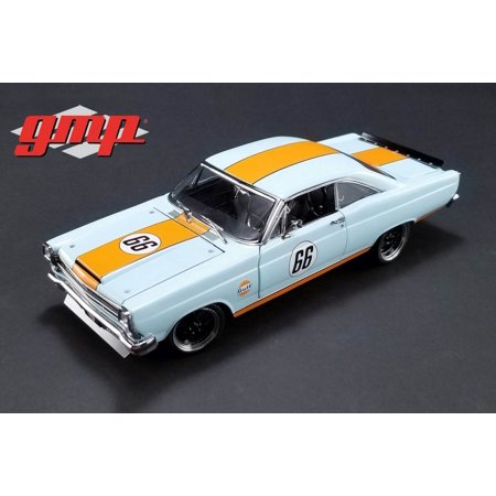- 1967 Ford Fairlane #66 Street Fighter, Gulf Oil Blue - GMP 18858 - 1/18 Scale Diecast Model Toy Car