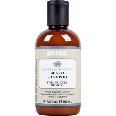 Brisk Grooming 2in1 Beard Shampoo + Conditioner,Tea Tree & Cedarwood