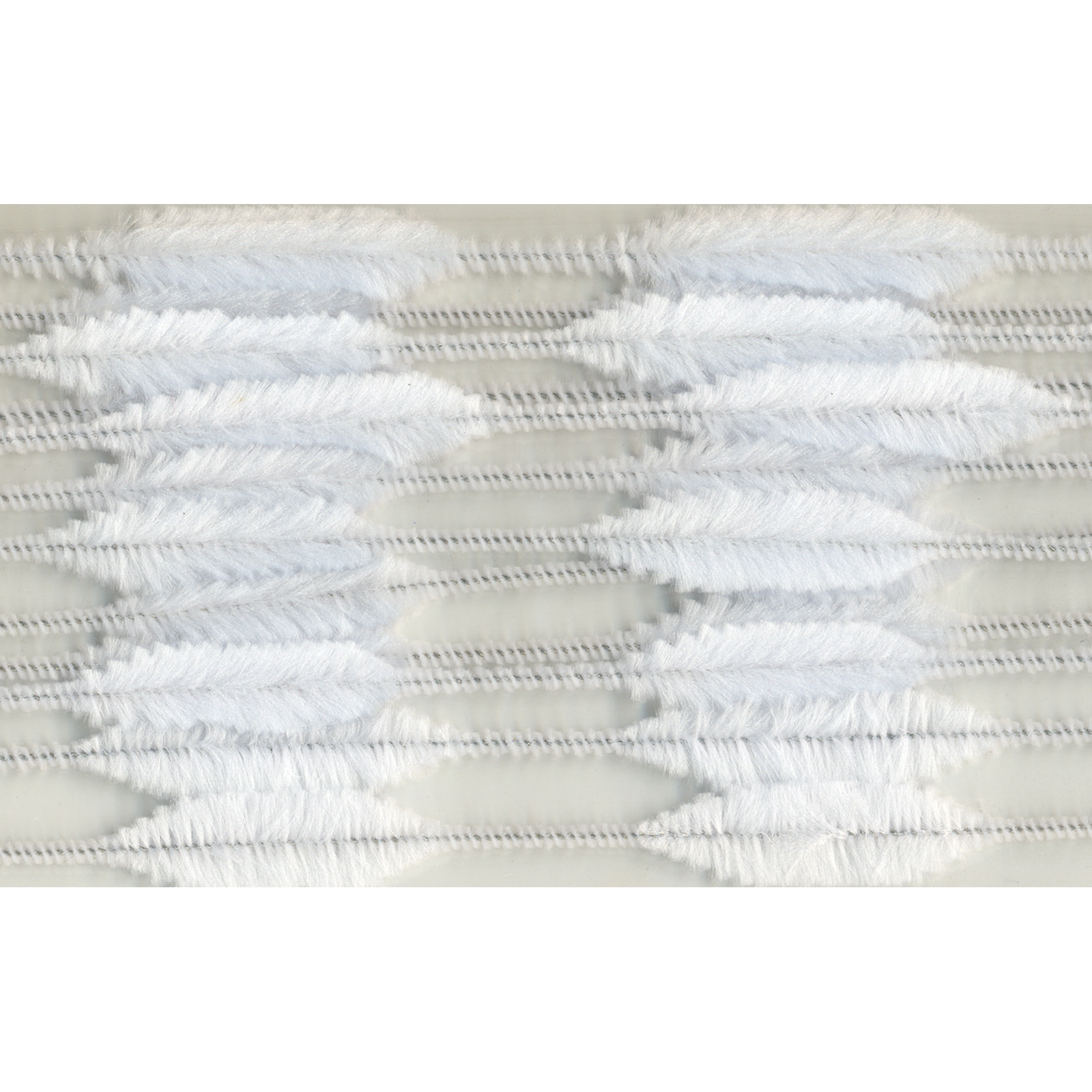 Chenille Bump Stems Pipe Cleaners, White, 15Mm - 1 Pkg