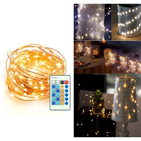copper wire fairy starry string led light with remote control rc and special