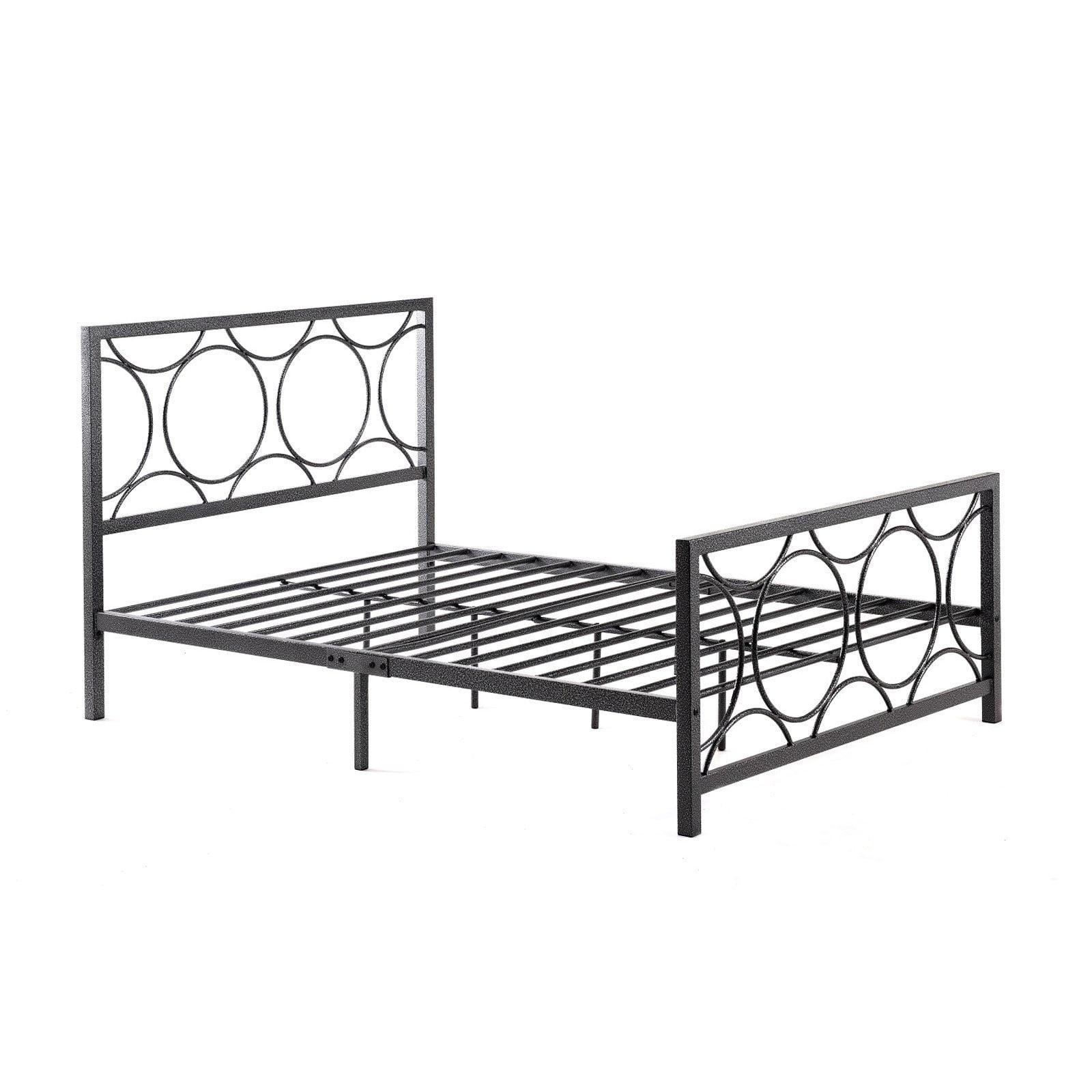 Hodedah Imports Spotted Metal Platform Bed