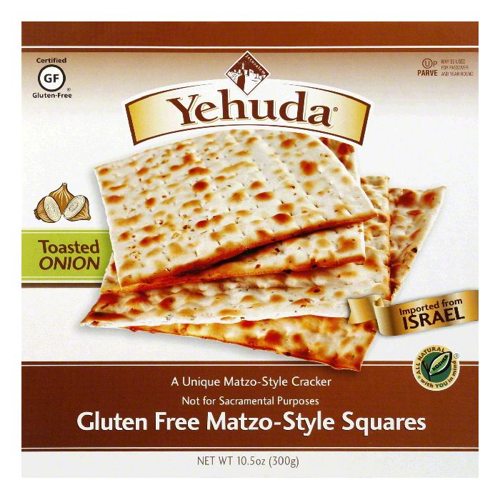 Yehuda Toasted Onion Matzo-Style Squares Crackers, 10.5 Oz (Pack of 12)